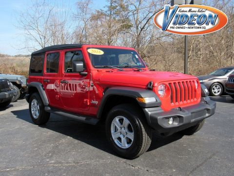 Certified Pre Owned 2018 Jeep Wrangler Unlimited Sport S